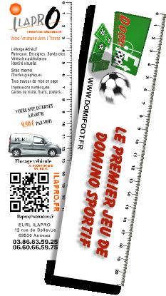 Le Couteau Suisse De La Communication Carte Visite Marque Page Rgle Support Publicitaire PVC 055 Mm
